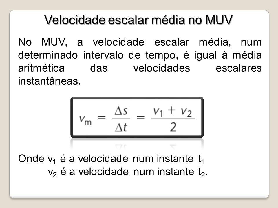 Velocidade escalar média no MUV