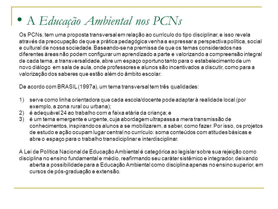 A Educação Ambiental nos PCNs