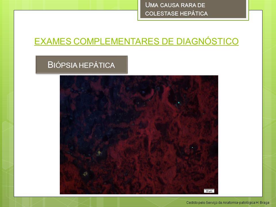 EXAMES COMPLEMENTARES DE DIAGNÓSTICO