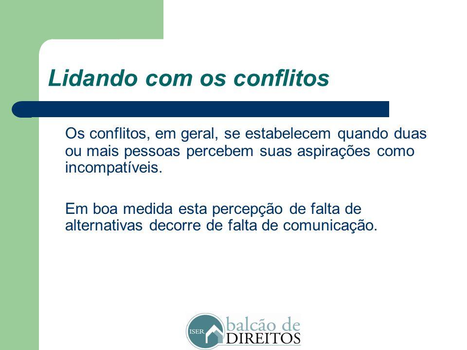 Lidando com os conflitos
