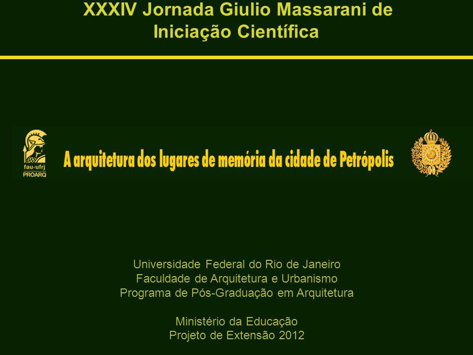 XXXIV Jornada Giulio Massarani de Iniciação Científica