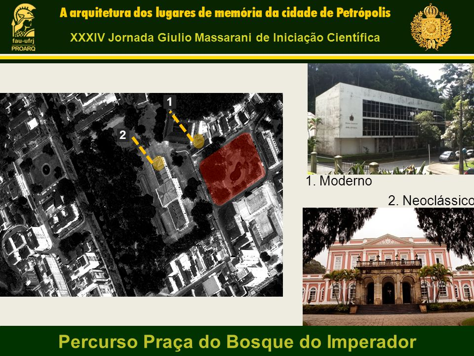 Percurso Praça do Bosque do Imperador