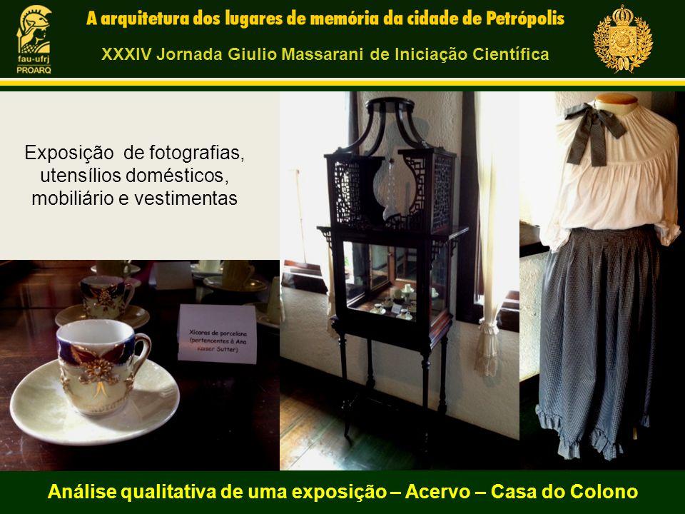 Análise qualitativa de uma exposição – Acervo – Casa do Colono