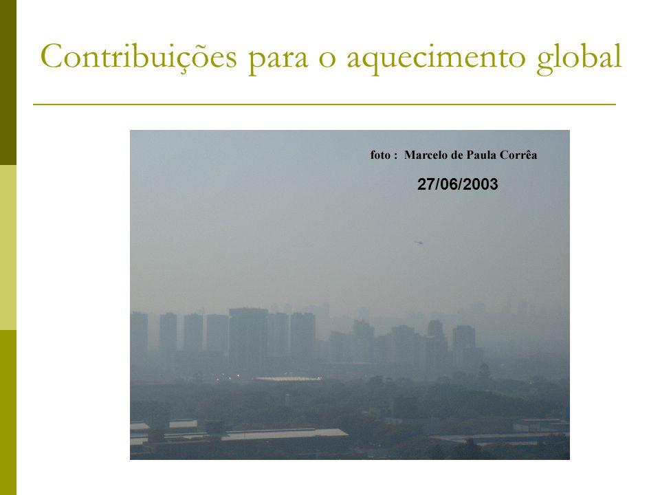 Contribuições para o aquecimento global