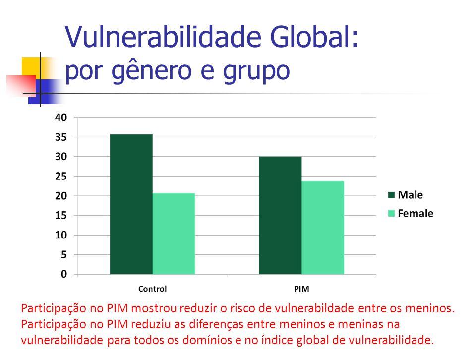 Vulnerabilidade Global: por gênero e grupo