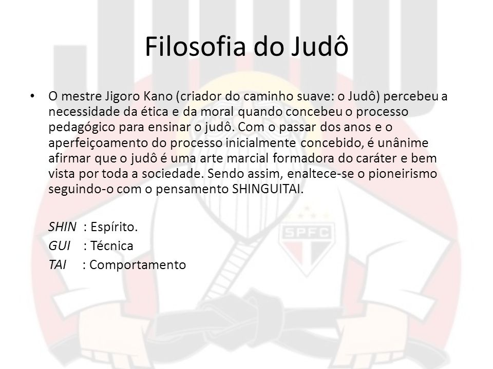 Filosofia do Judô