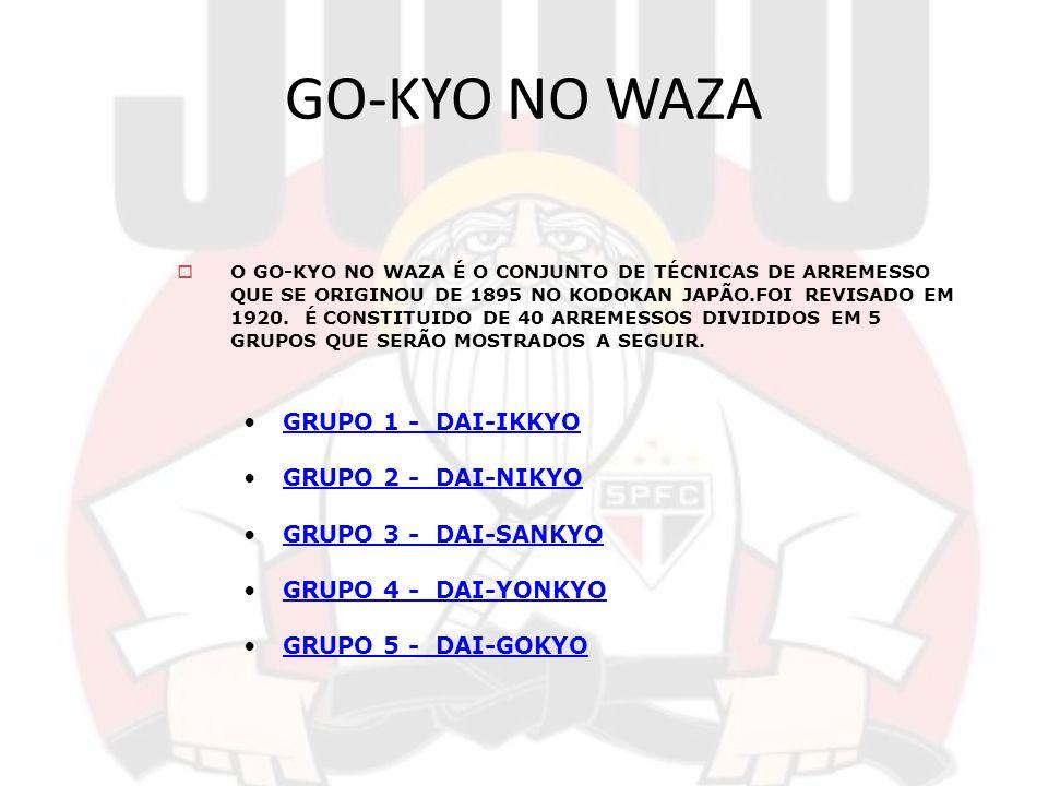 GO-KYO NO WAZA GRUPO 1 - DAI-IKKYO GRUPO 2 - DAI-NIKYO