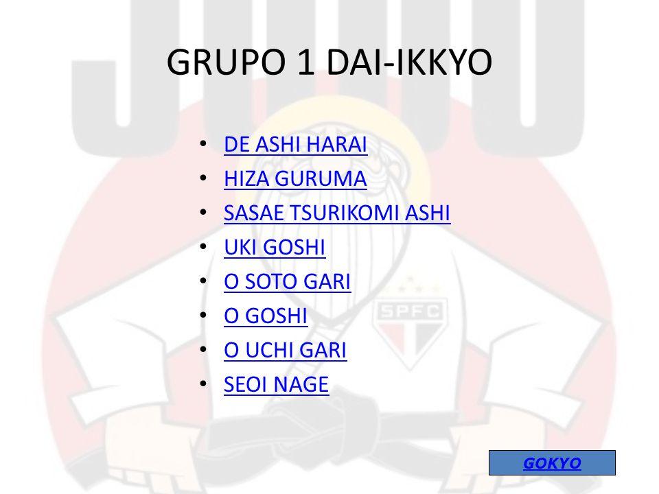 GRUPO 1 DAI-IKKYO DE ASHI HARAI HIZA GURUMA SASAE TSURIKOMI ASHI