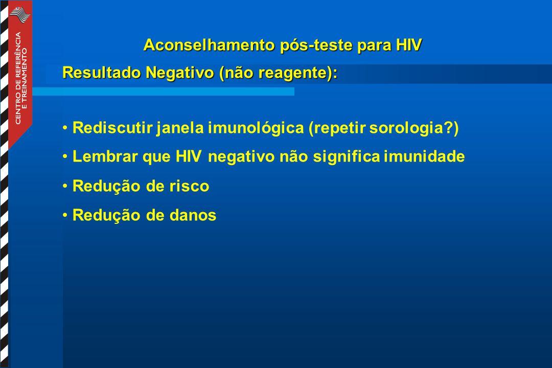 Aconselhamento pós-teste para HIV