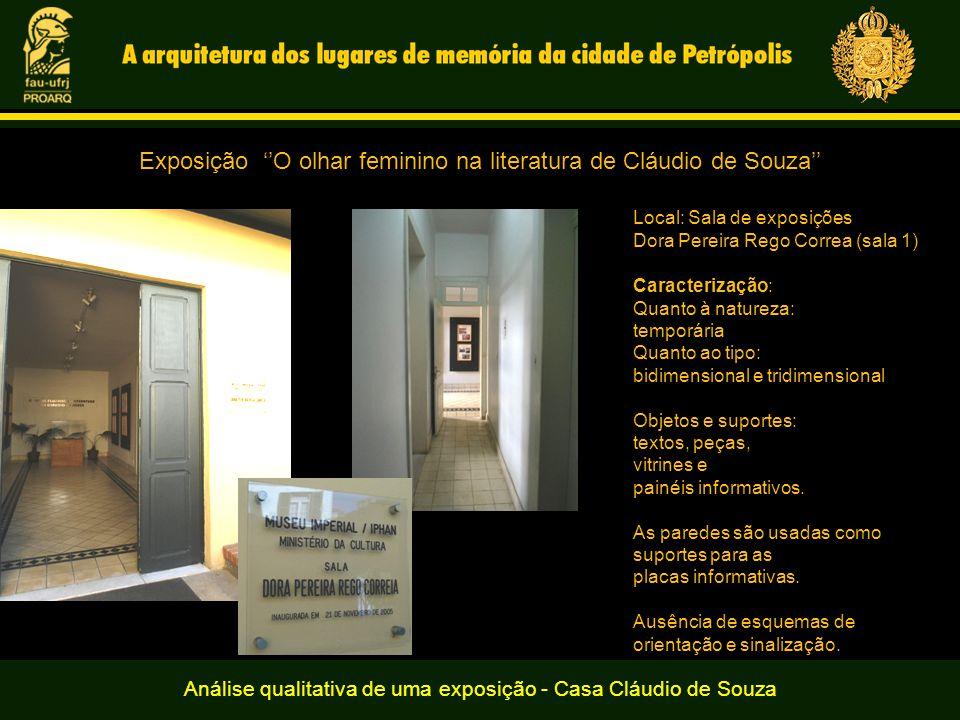 Exposição ''O olhar feminino na literatura de Cláudio de Souza''