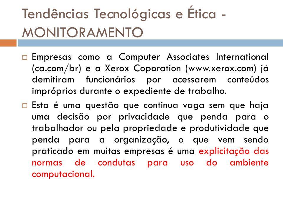 Tendências Tecnológicas e Ética - MONITORAMENTO