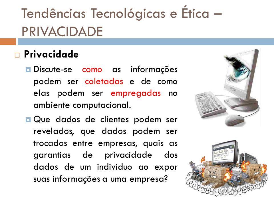 Tendências Tecnológicas e Ética – PRIVACIDADE