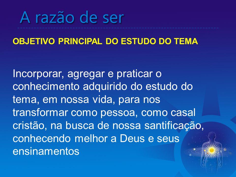 OBJETIVO PRINCIPAL DO ESTUDO DO TEMA