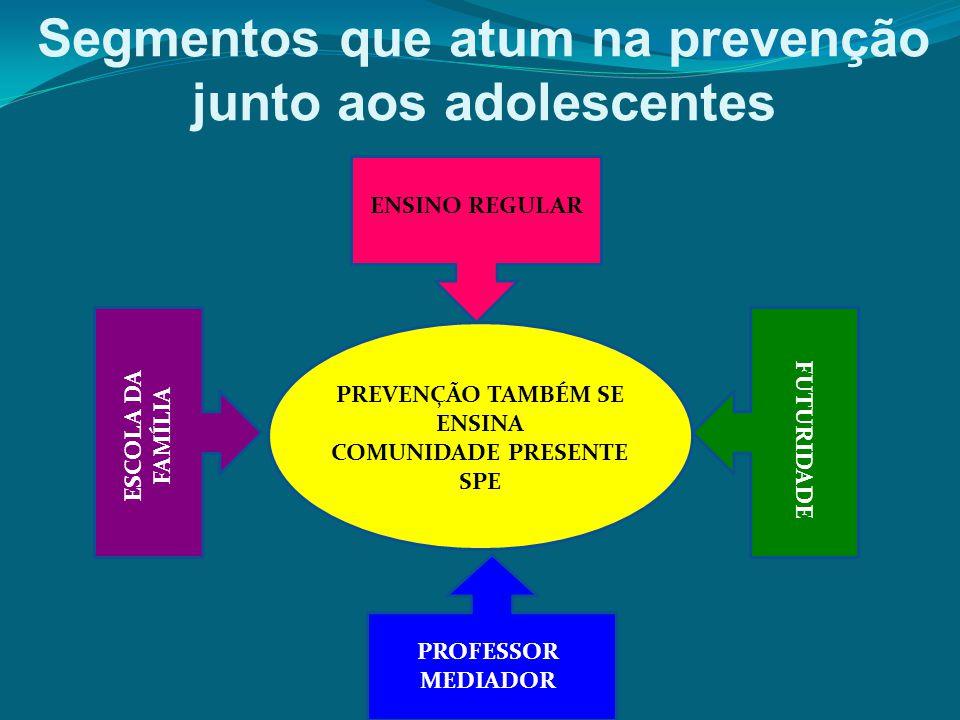 Segmentos que atum na prevenção junto aos adolescentes