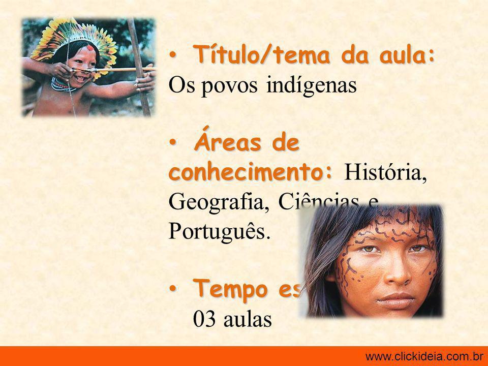 Título/tema da aula: Os povos indígenas
