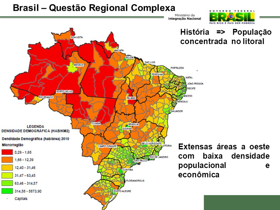 Brasil – Questão Regional Complexa