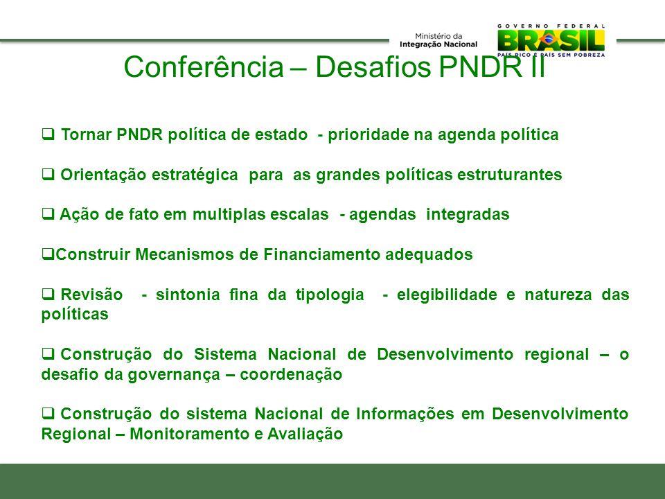 Conferência – Desafios PNDR II