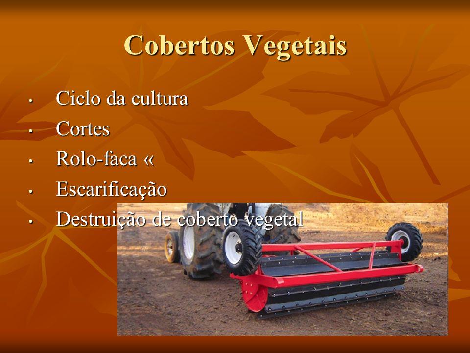 Cobertos Vegetais Ciclo da cultura Cortes Rolo-faca « Escarificação