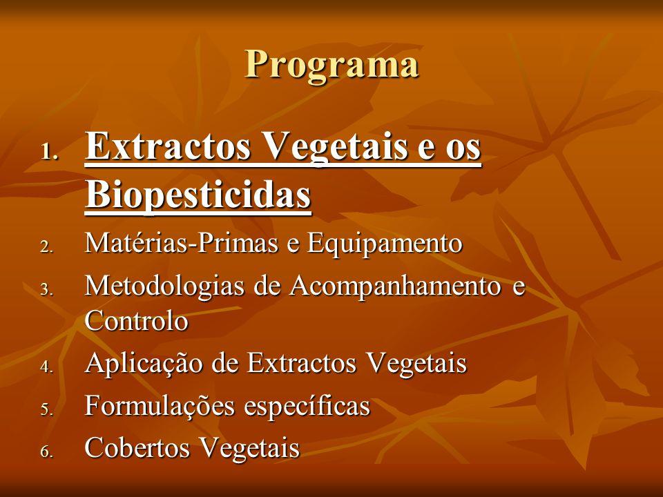 Extractos Vegetais e os Biopesticidas