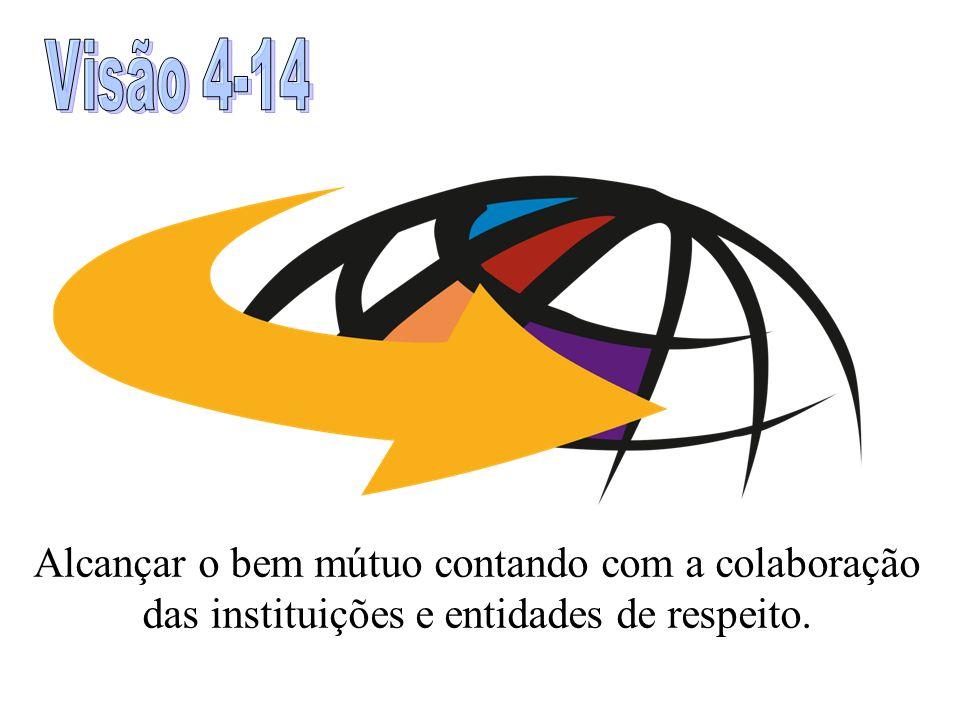 Visão 4-14 Alcançar o bem mútuo contando com a colaboração das instituições e entidades de respeito.