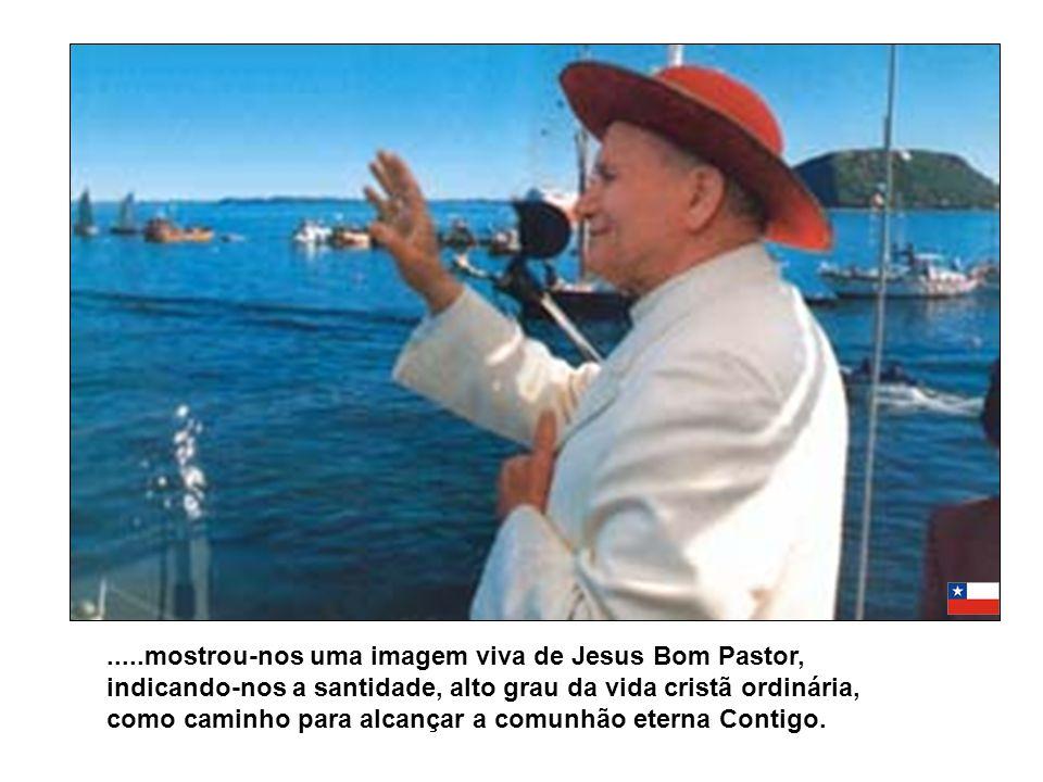 .....mostrou-nos uma imagem viva de Jesus Bom Pastor, indicando-nos a santidade, alto grau da vida cristã ordinária, como caminho para alcançar a comunhão eterna Contigo.
