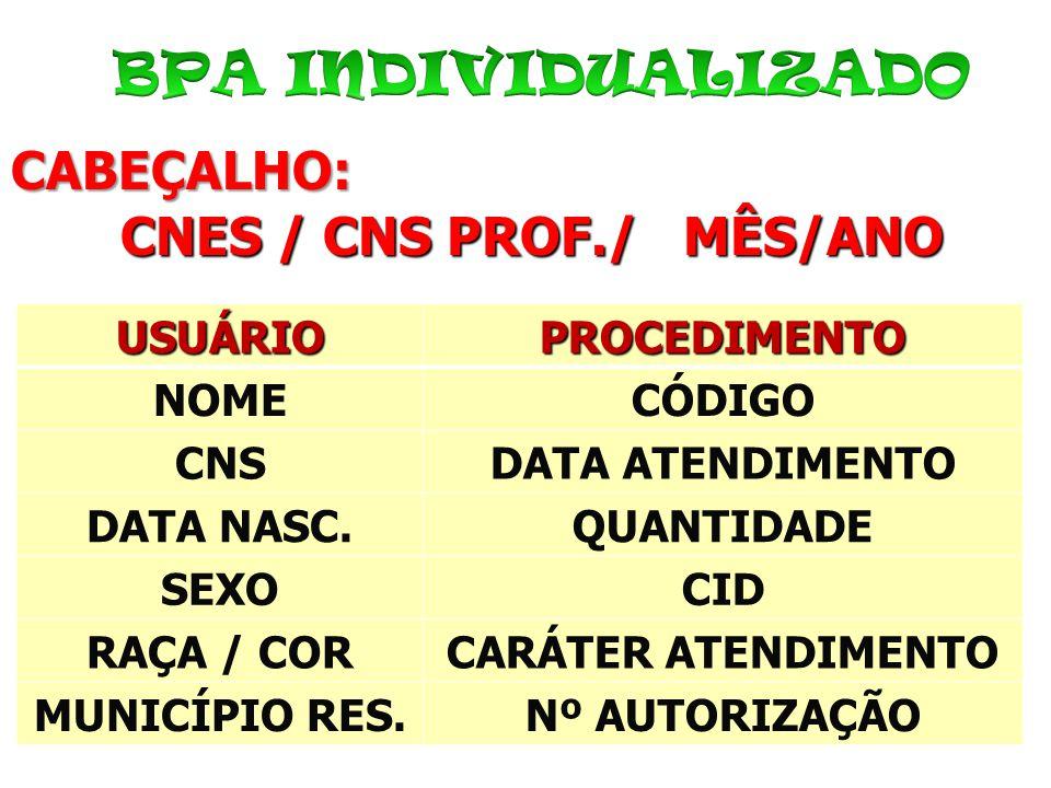 CNES / CNS PROF./ MÊS/ANO
