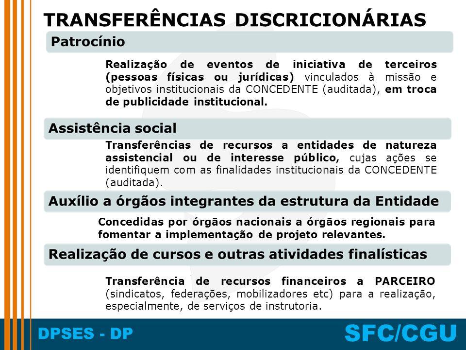 TRANSFERÊNCIAS DISCRICIONÁRIAS