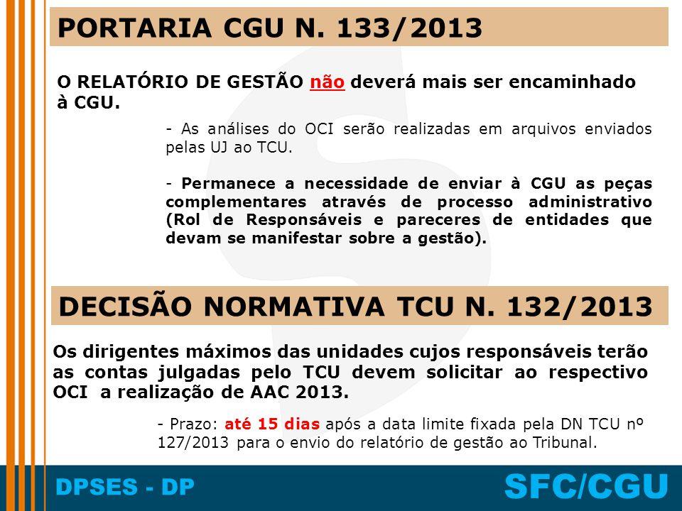 DECISÃO NORMATIVA TCU N. 132/2013