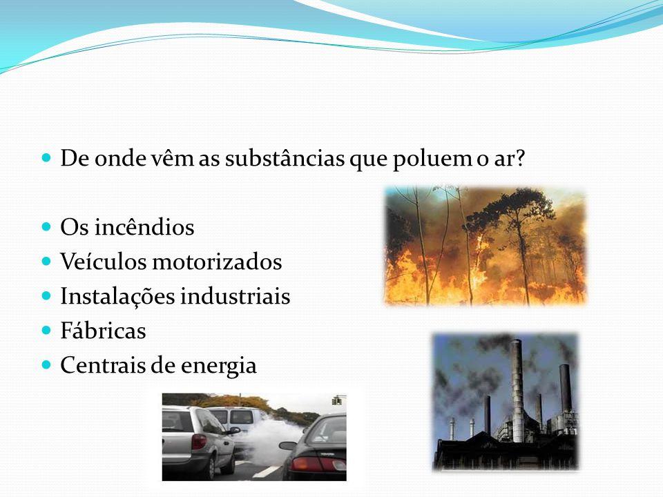 De onde vêm as substâncias que poluem o ar