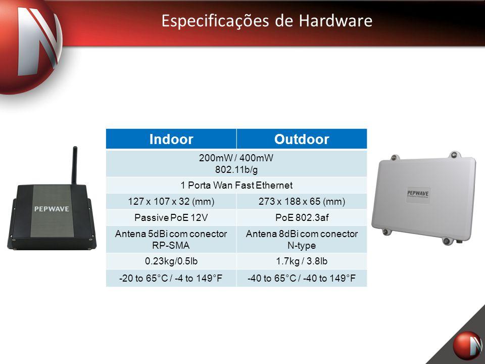 Especificações de Hardware