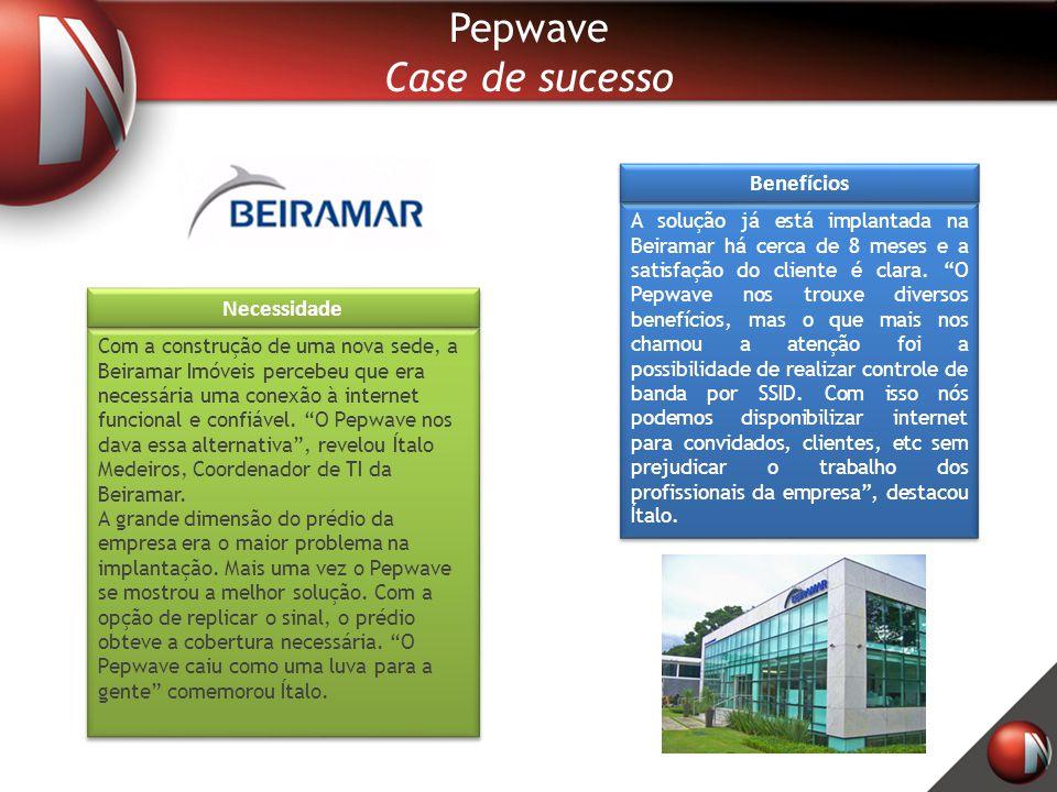 Pepwave Case de sucesso Benefícios Necessidade