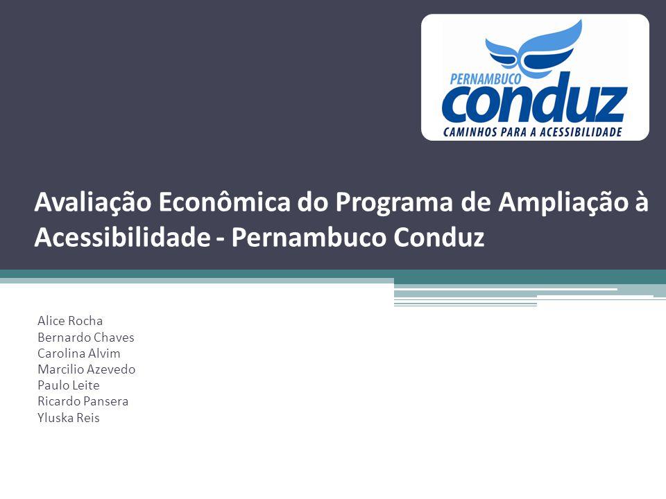 Avaliação Econômica do Programa de Ampliação à Acessibilidade - Pernambuco Conduz