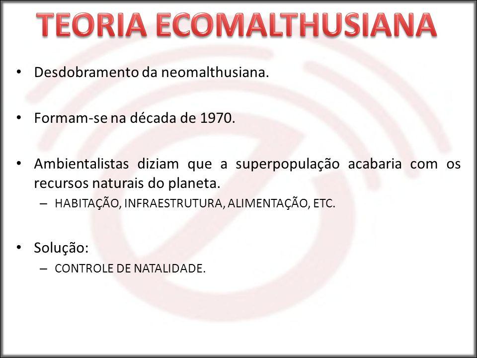 TEORIA ECOMALTHUSIANA