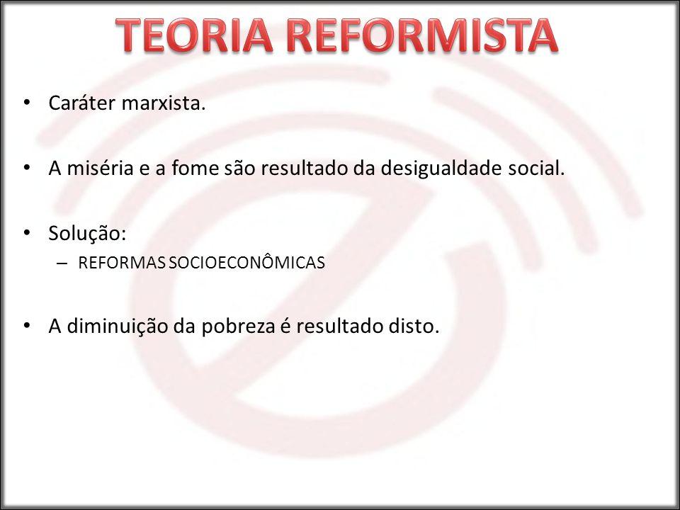TEORIA REFORMISTA Caráter marxista.