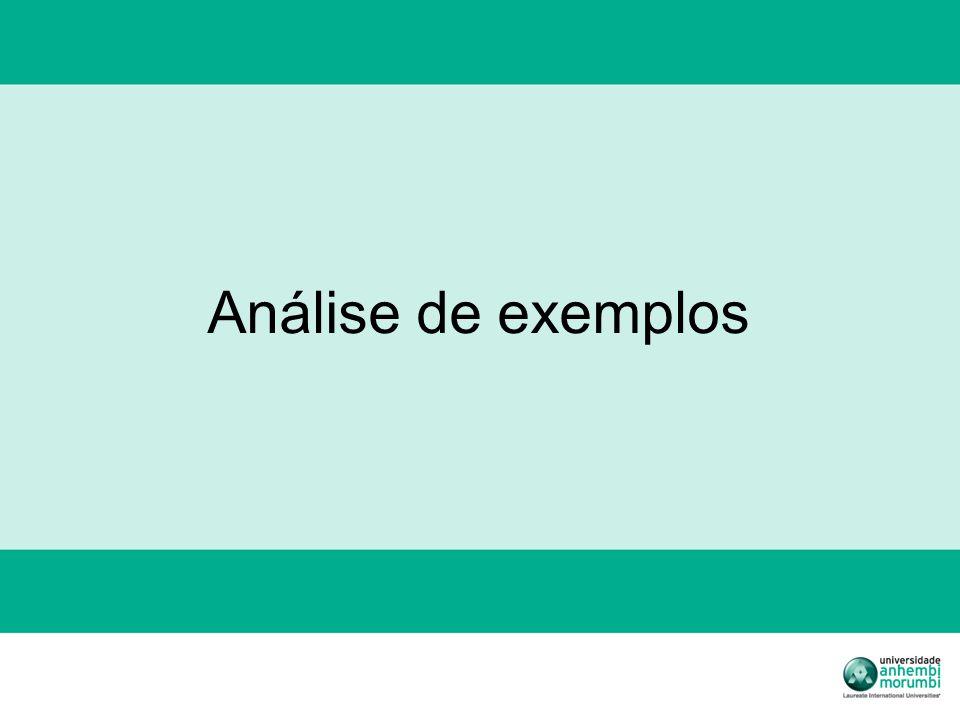 Análise de exemplos