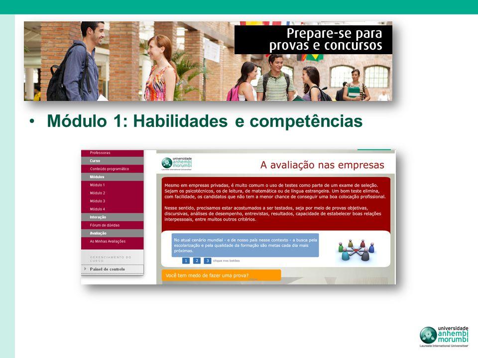 Módulo 1: Habilidades e competências
