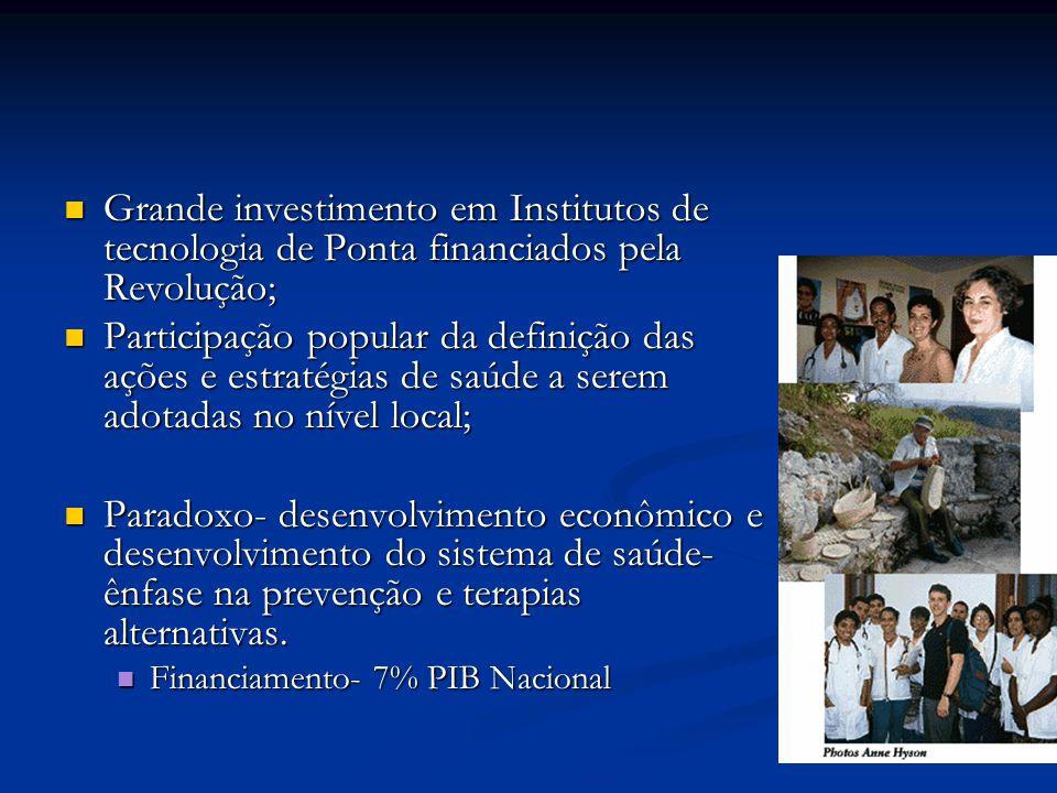 Grande investimento em Institutos de tecnologia de Ponta financiados pela Revolução;