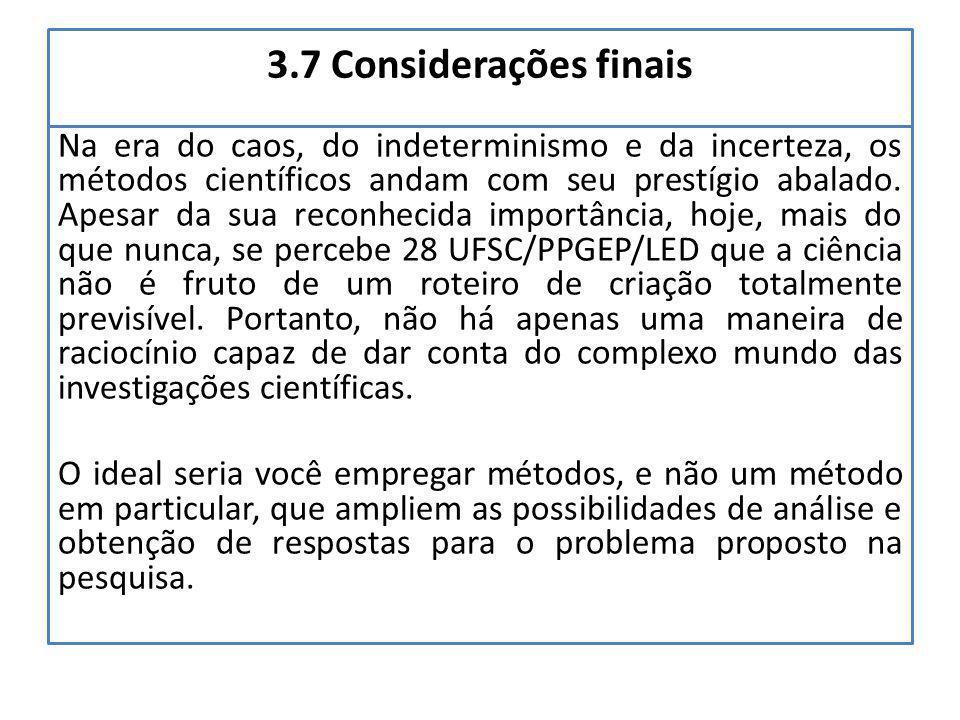 3.7 Considerações finais