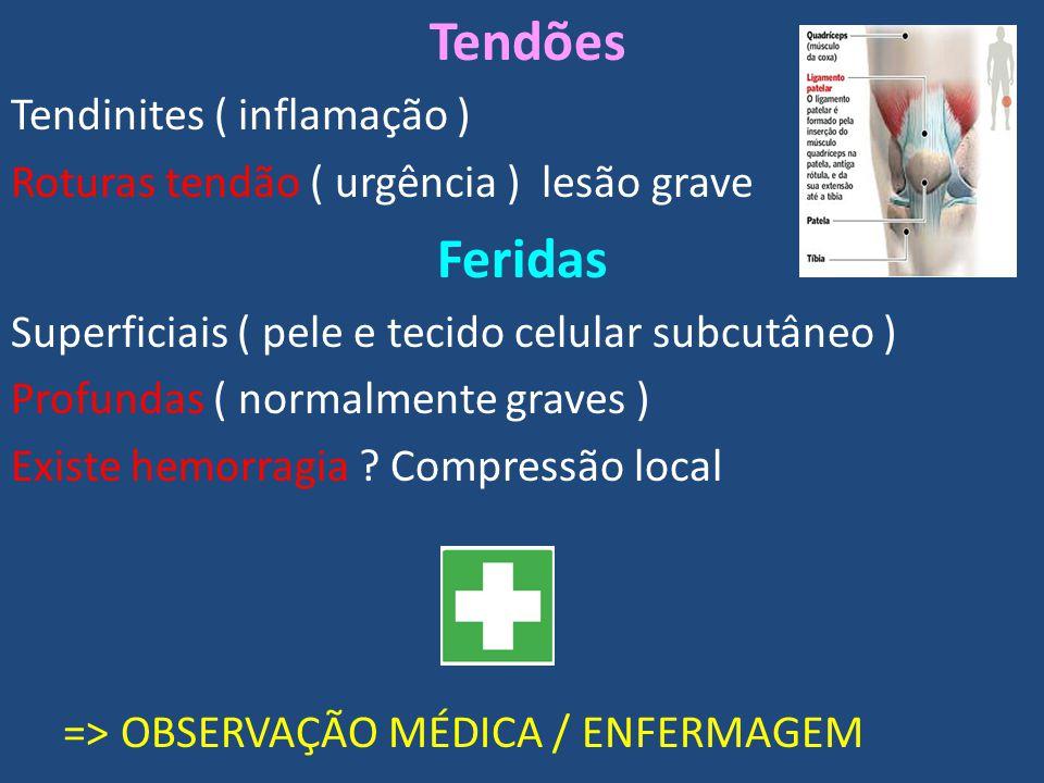 Feridas Tendões Tendinites ( inflamação )