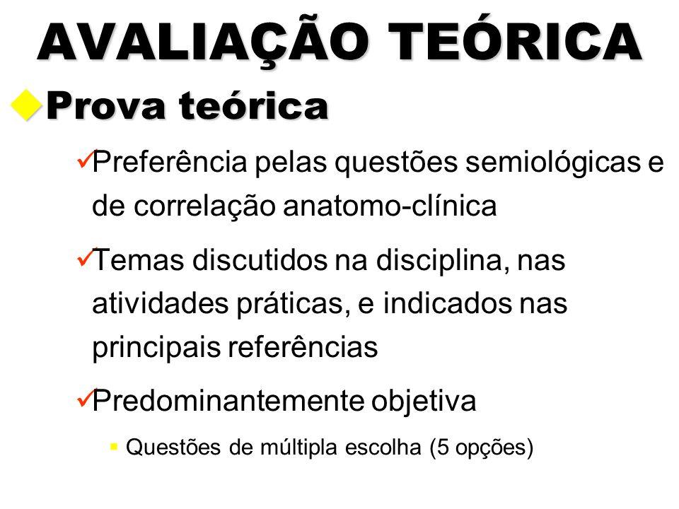 AVALIAÇÃO TEÓRICA Prova teórica