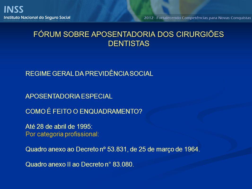 FÓRUM SOBRE APOSENTADORIA DOS CIRURGIÕES DENTISTAS