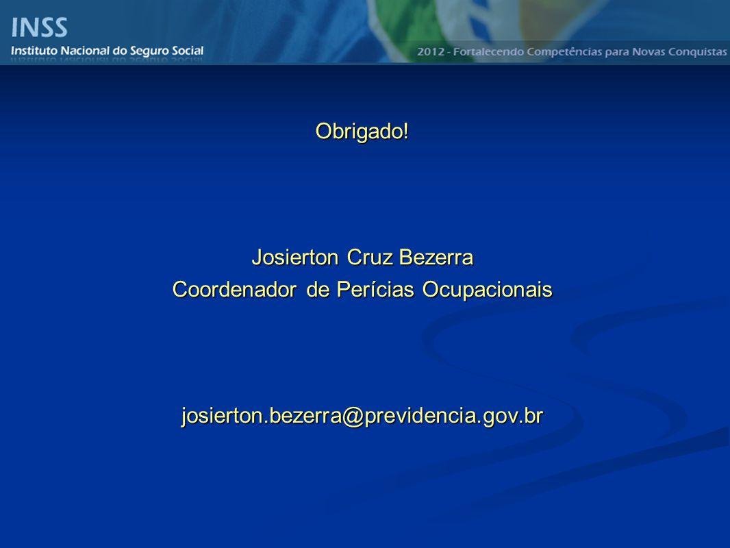 Josierton Cruz Bezerra Coordenador de Perícias Ocupacionais