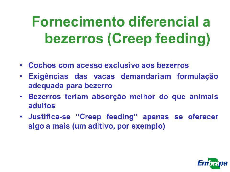 Fornecimento diferencial a bezerros (Creep feeding)
