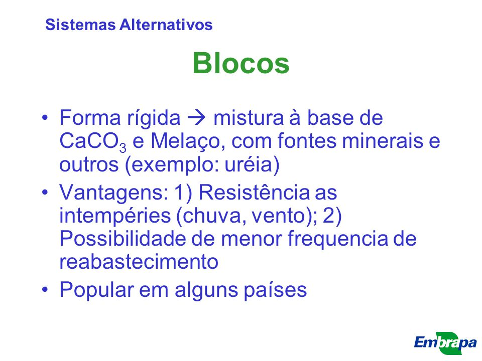 Sistemas Alternativos
