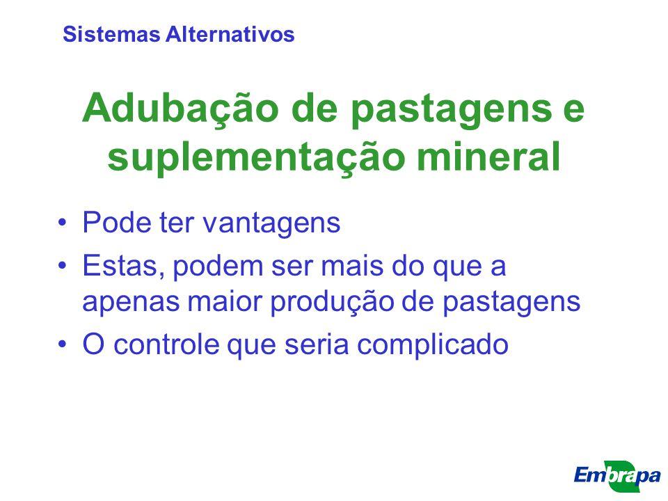 Adubação de pastagens e suplementação mineral