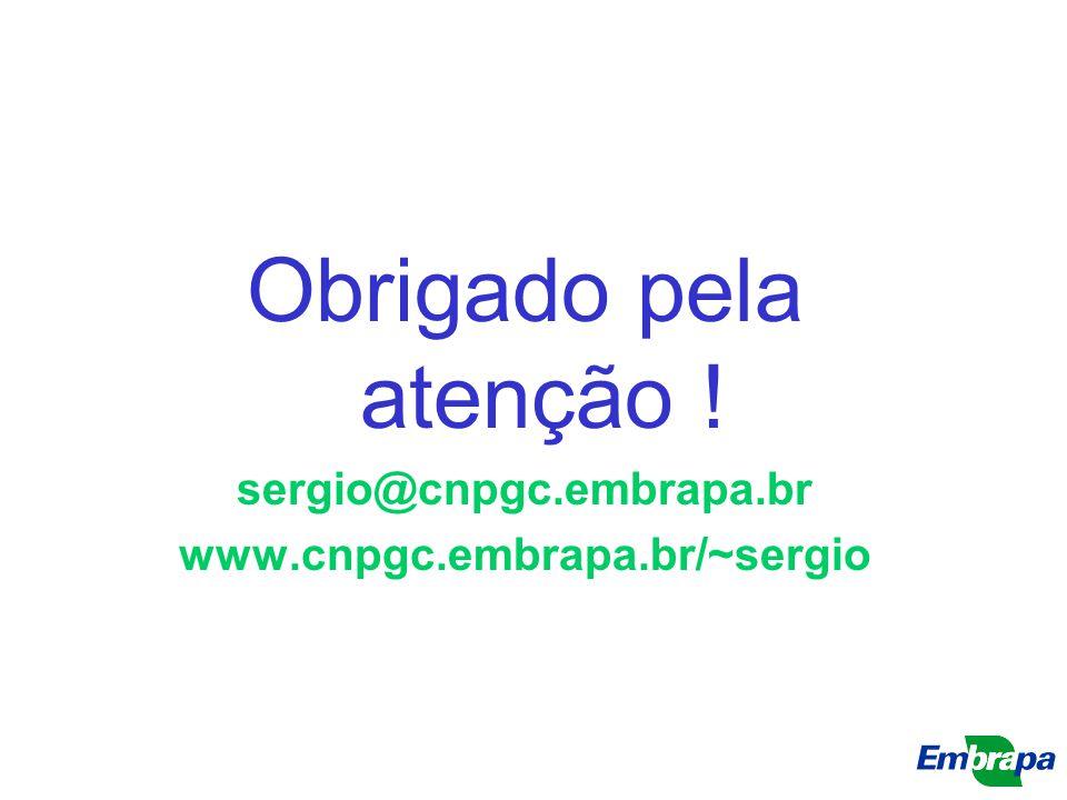 Obrigado pela atenção ! sergio@cnpgc.embrapa.br