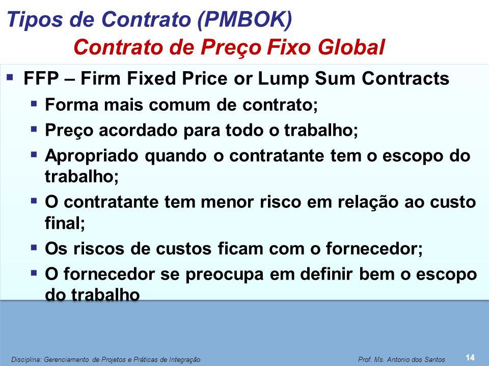 Contrato de Preço Fixo Global com Incentivo