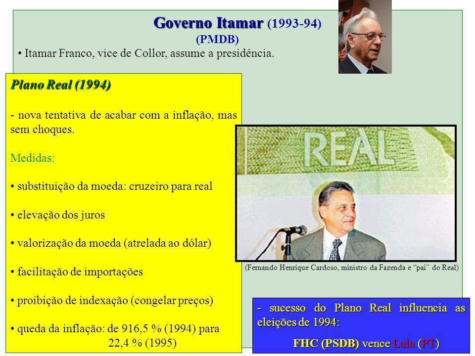 (Fernando Henrique Cardoso, ministro da Fazenda e pai do Real)