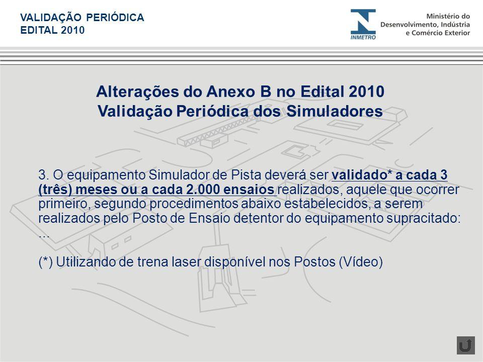 Alterações do Anexo B no Edital 2010