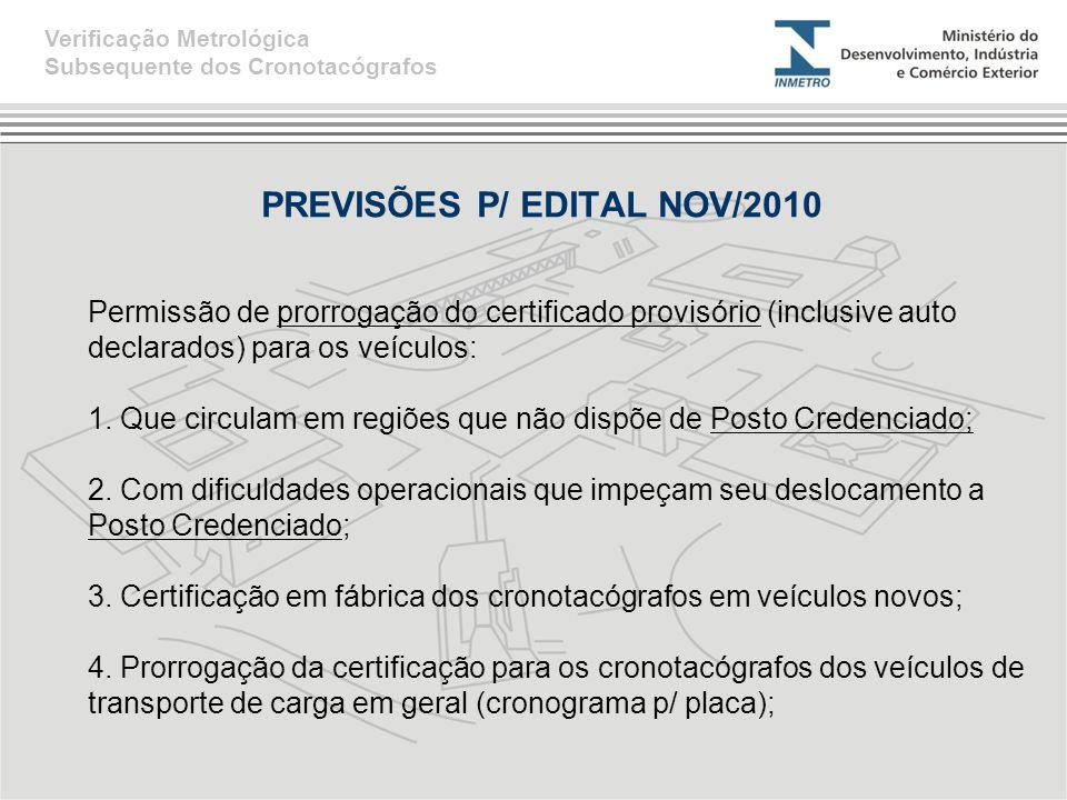 PREVISÕES P/ EDITAL NOV/2010